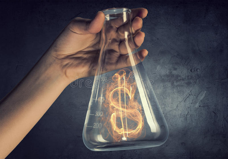 Geld die concept maken Gemengde media stock afbeeldingen