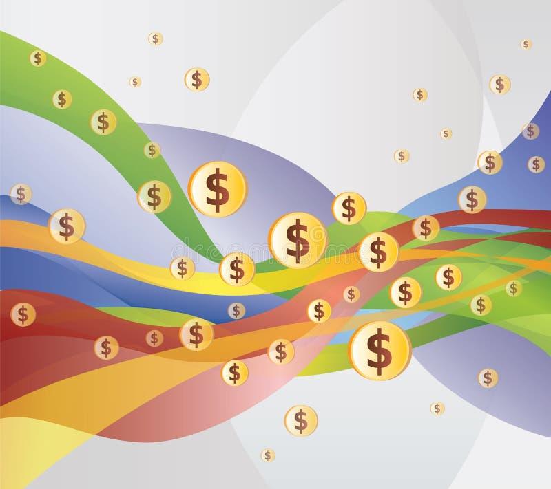 Geld-/Dollar-Fluss- Abbildung stock abbildung