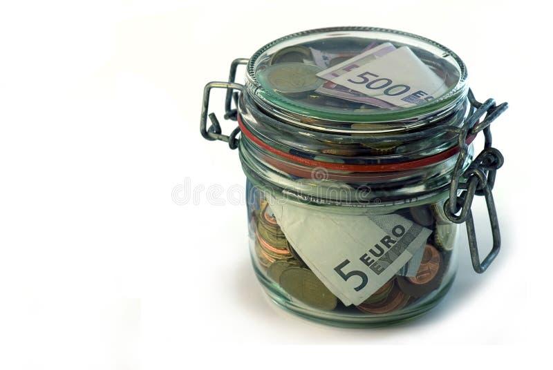 Geld-doos royalty-vrije stock afbeeldingen