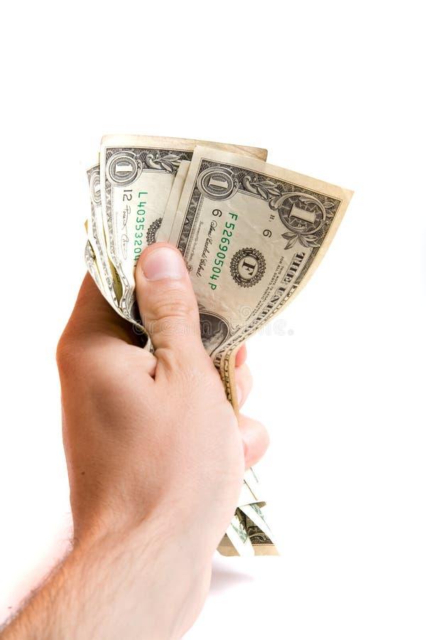 Geld In Een Hand Gratis Stock Afbeelding