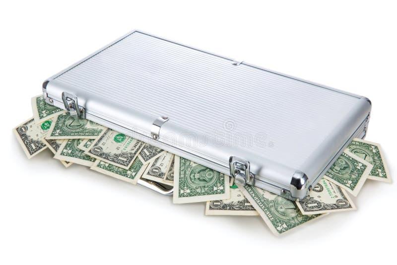 Geld in een koffer royalty-vrije stock foto's