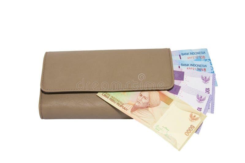 Geld in einer Mappe. lizenzfreie stockbilder