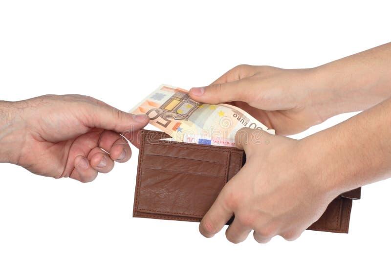Geld in einer Mappe stockfotos