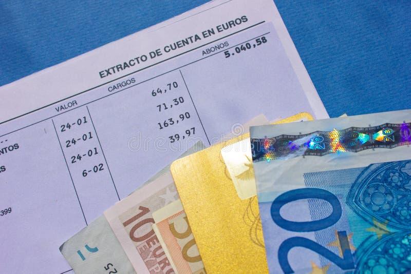 Geld en bankrekening royalty-vrije stock foto