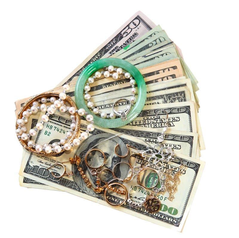 Geld en Juwelen royalty-vrije stock foto's