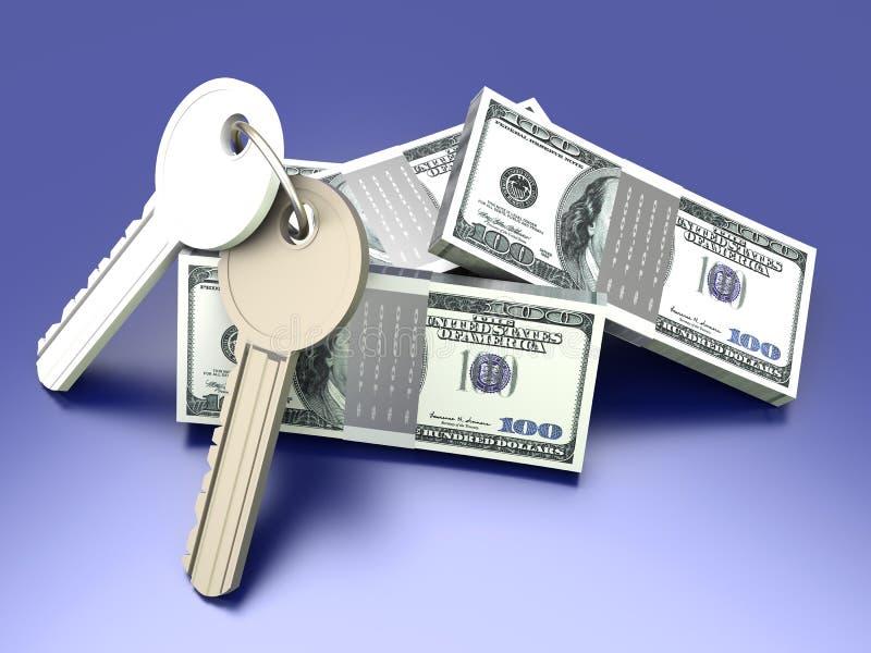 Geld en Sleutels vector illustratie