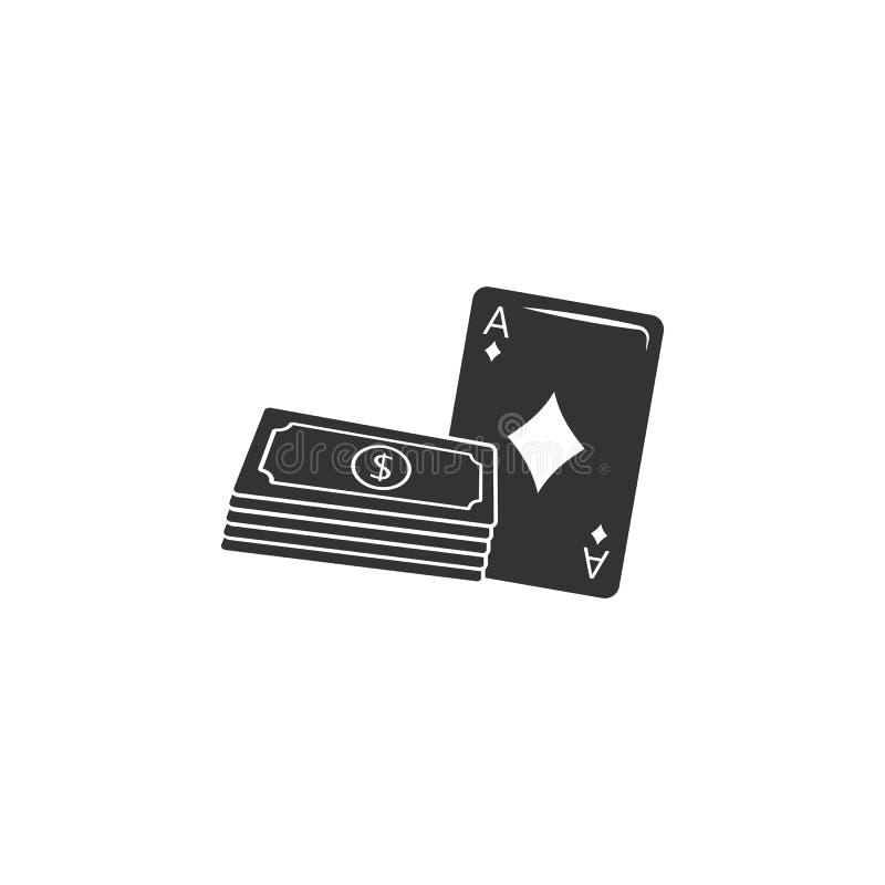 Geld en spelkaartenpictogram Element van luchthavenpictogram voor mobiele concept en webtoepassingen Het gedetailleerde Geld en s stock illustratie