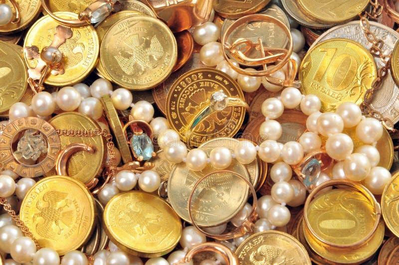 Geld en waardevol royalty-vrije stock afbeelding