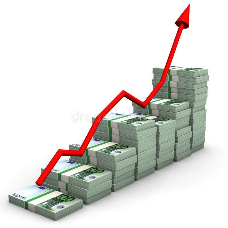 Geld-Euro-Diagramm stock abbildung