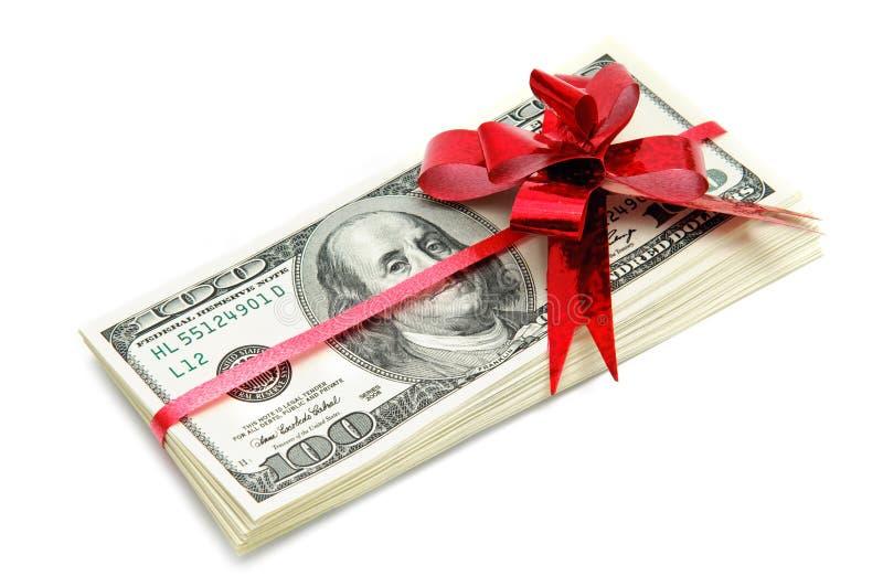 Geld für Geschenk lizenzfreie stockfotos