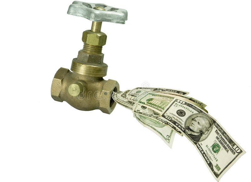 Geld faccet royalty-vrije stock foto's