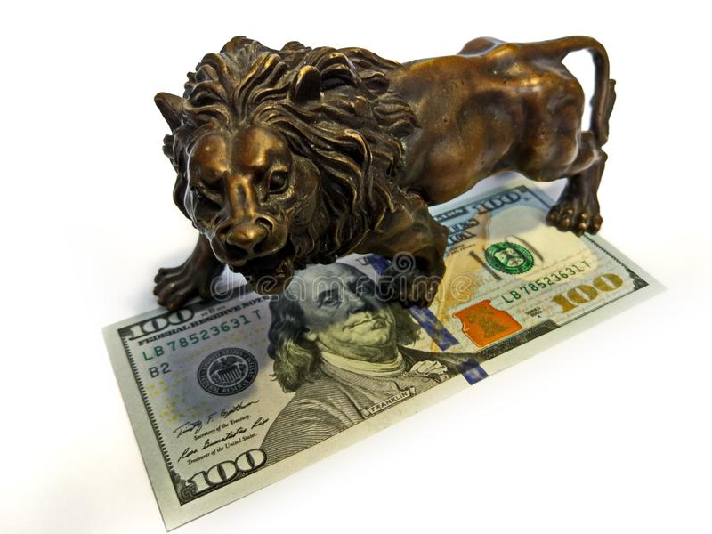 Geld-Finanzdollarguthaben für Auslandsinvestitionen lizenzfreies stockbild