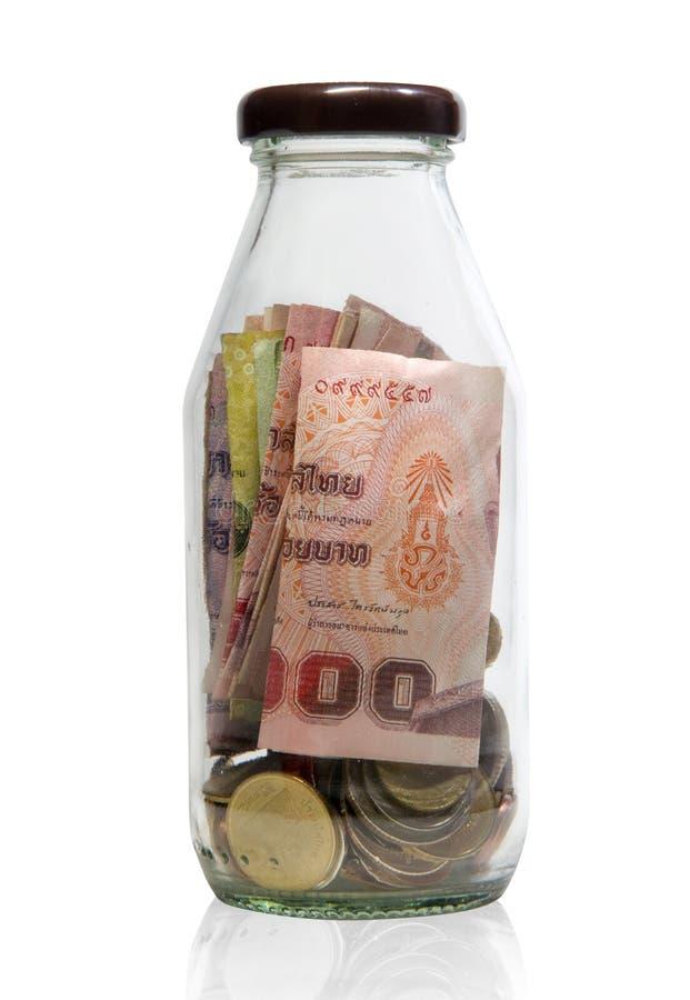 Geld in fles royalty-vrije stock afbeeldingen