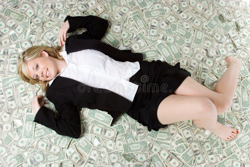 Geld-Frau stockbild