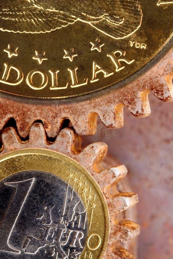 Geld-Gänge lizenzfreie stockfotos