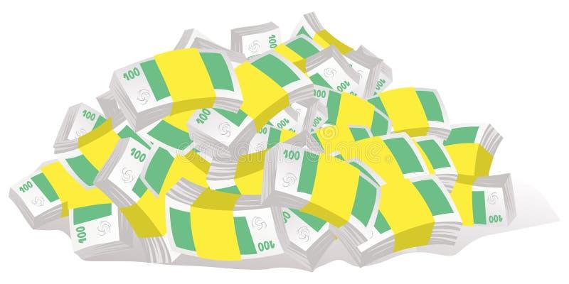 Geld galore vector illustratie