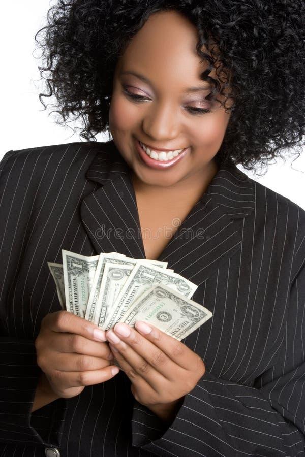 Geld-Geschäftsfrau lizenzfreie stockfotos