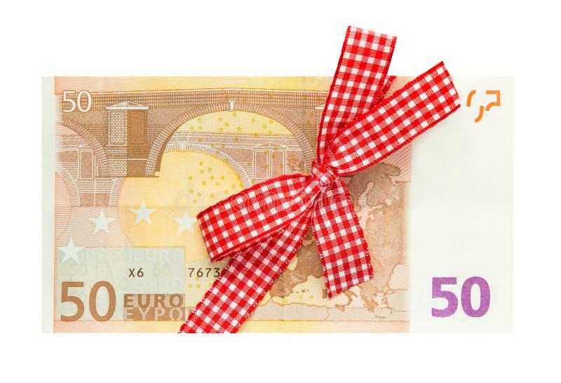 Geld-Geschenkgutschein stockfoto