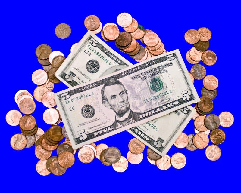 Geld - getrennt lizenzfreies stockbild