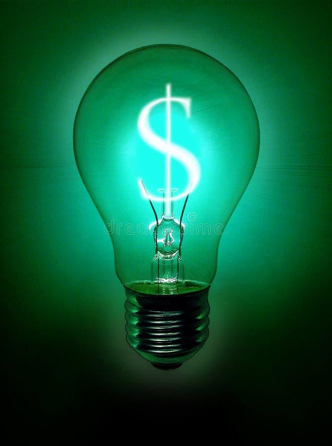 Geld-Glühlampe lizenzfreie abbildung