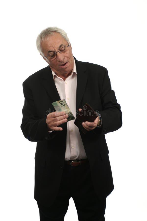 Geld-heraus Mappe lizenzfreies stockfoto