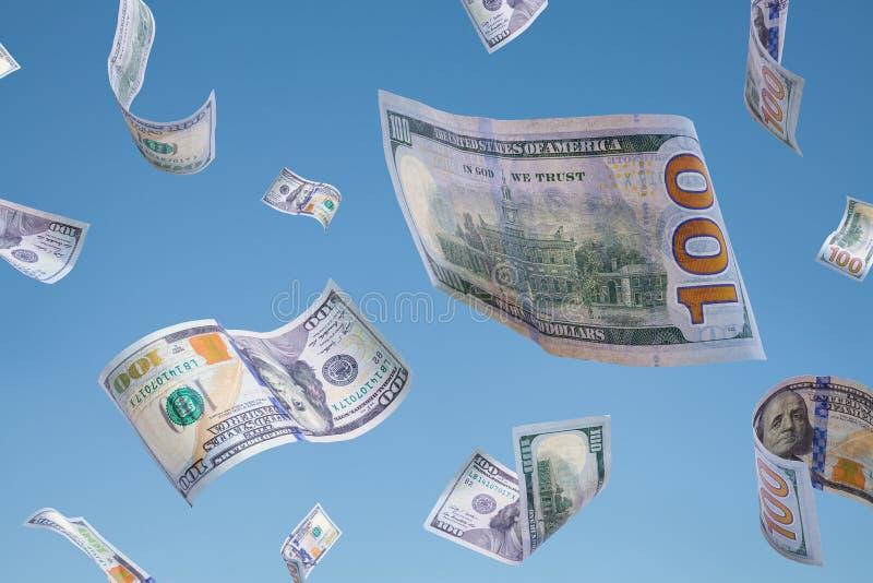 Geld het vallen royalty-vrije stock fotografie