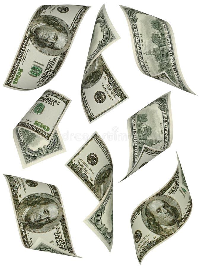 Geld. Honderd dollarsrekeningen de V.S. stock afbeelding