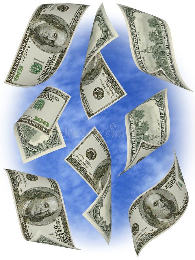 Geld. Honderd dollarsrekeningen de V.S. royalty-vrije stock foto