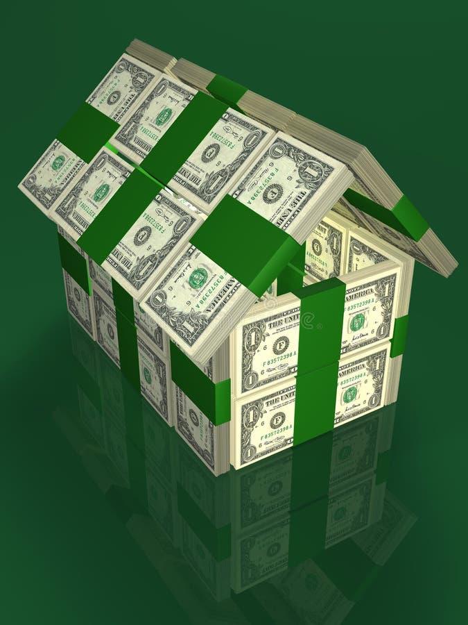Geld - huis stock illustratie