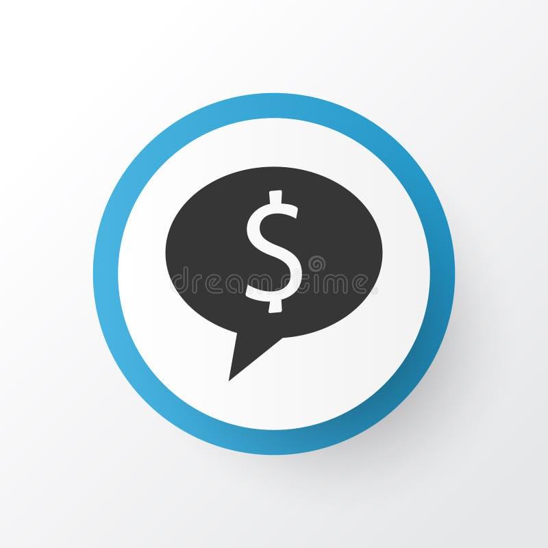 Geld-Ikonen-Symbol Erstklassige Qualität lokalisiertes Abkommen-Element in der modischen Art stock abbildung