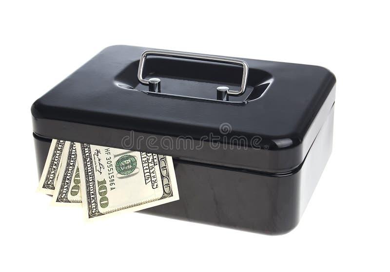 Geld im Bargeldkasten stockfotografie