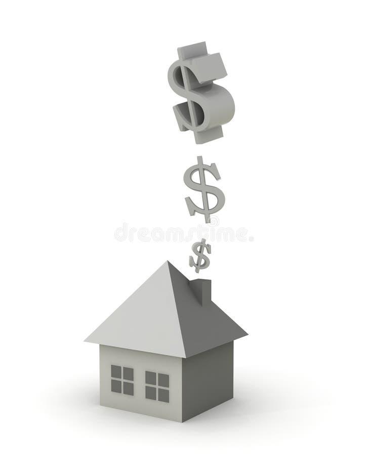 Geld im Kamin vektor abbildung