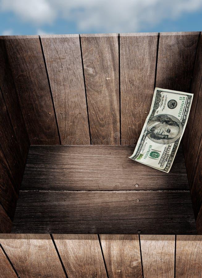 Geld im Kasten stockfotografie