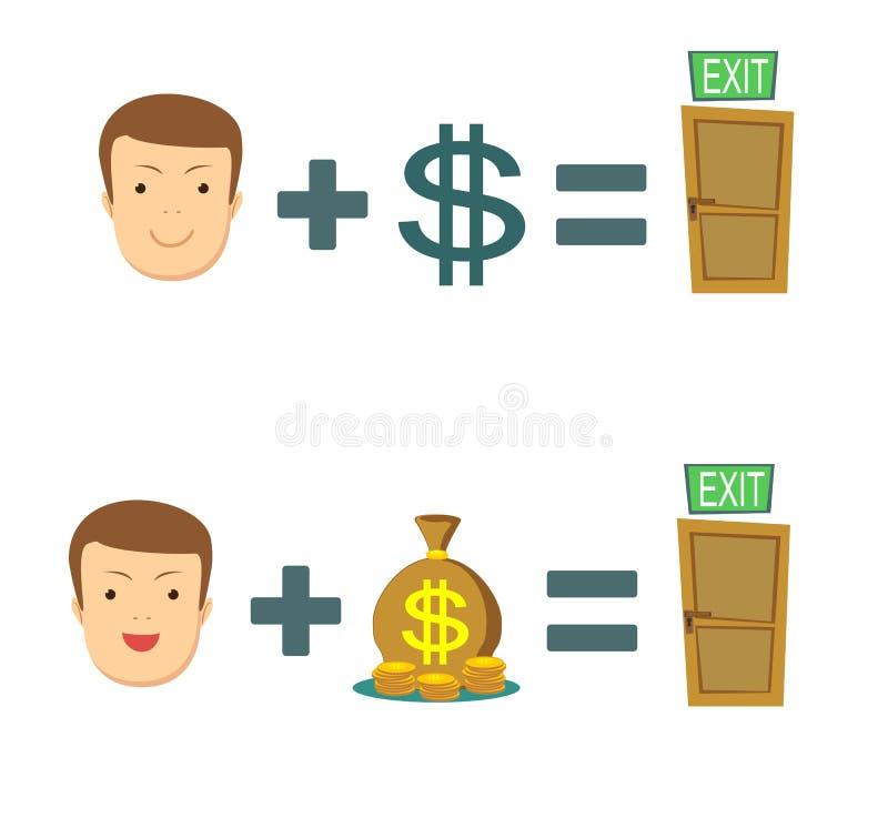 Geld ist Rettung lizenzfreie abbildung
