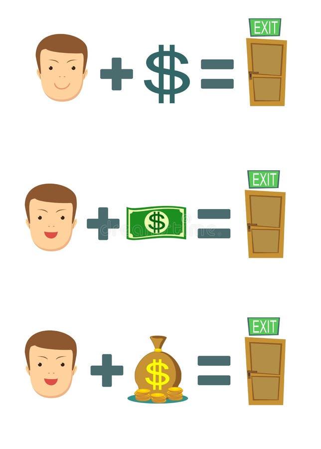 Geld ist Rettung stock abbildung