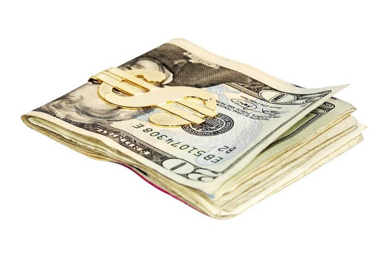 Geld-Klipp lizenzfreie stockfotos
