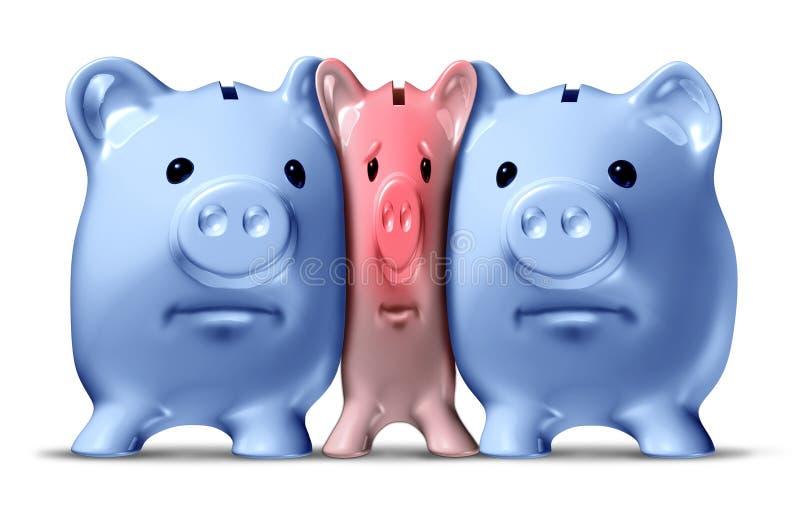 Geld-Knirschen vektor abbildung