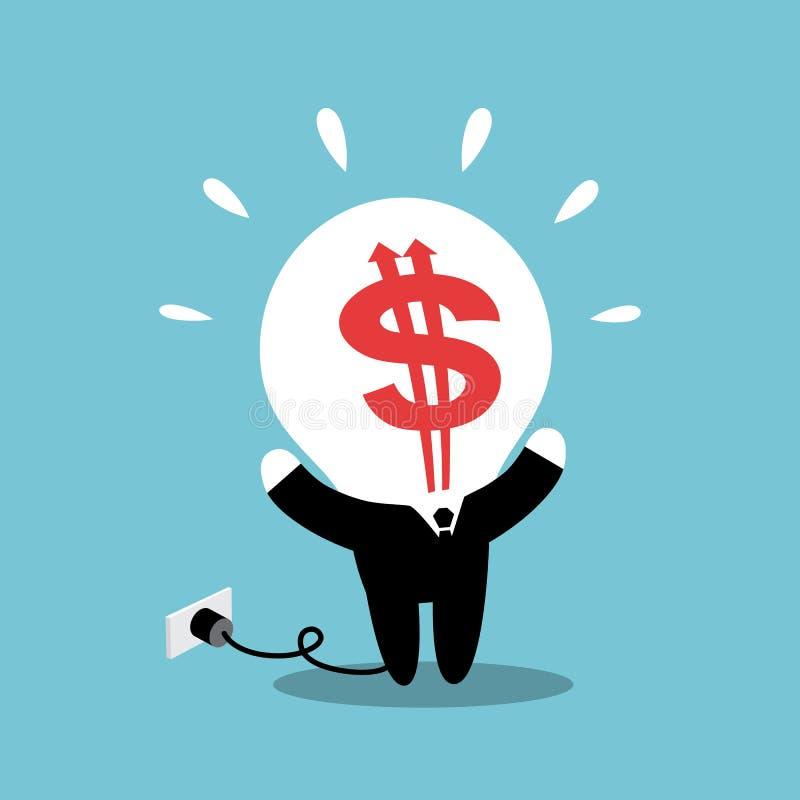 Geld-Kopf lizenzfreie abbildung