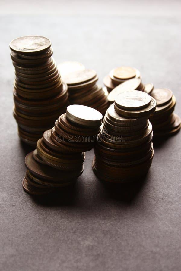 Geld-Münzen lizenzfreie stockfotos