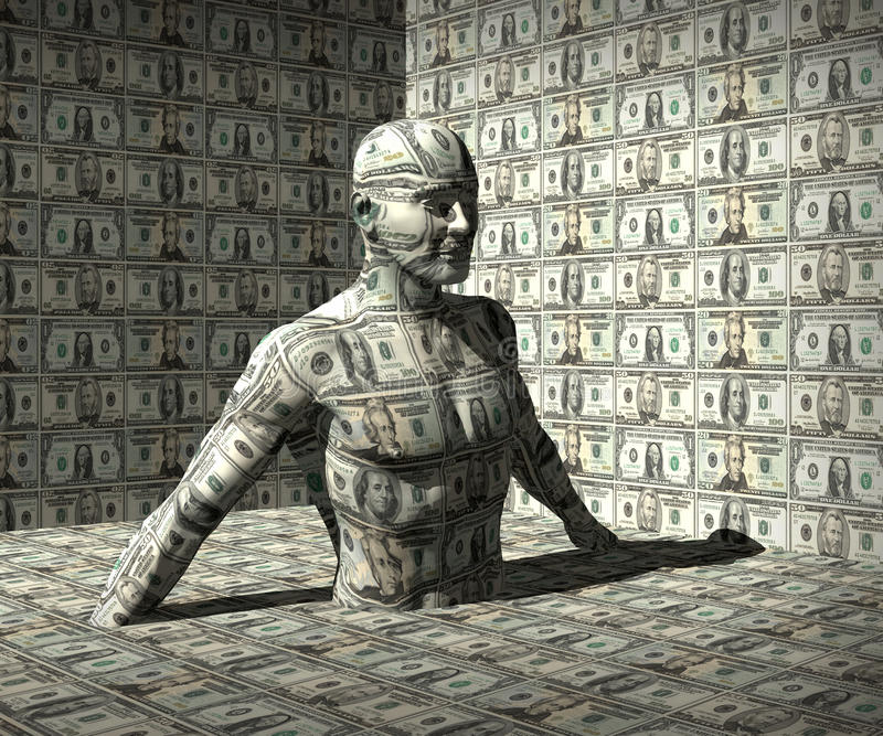 Geld Man royalty-vrije stock foto