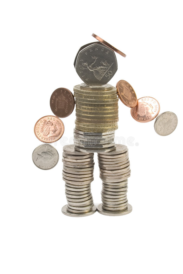 Geld-Mann lizenzfreie stockfotografie