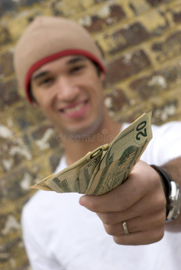 Geld-Mann stockfotos