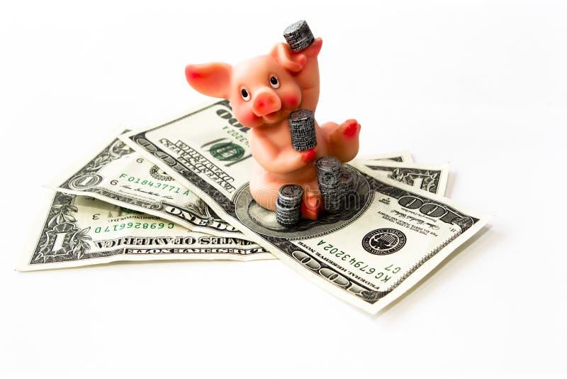 Download Geld Mit Schwein Und Münzen Stockbild - Bild von ernstlich, cents: 26361163