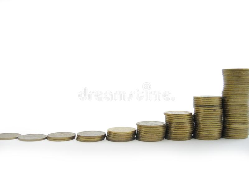 Geld, muntstuk stock afbeelding