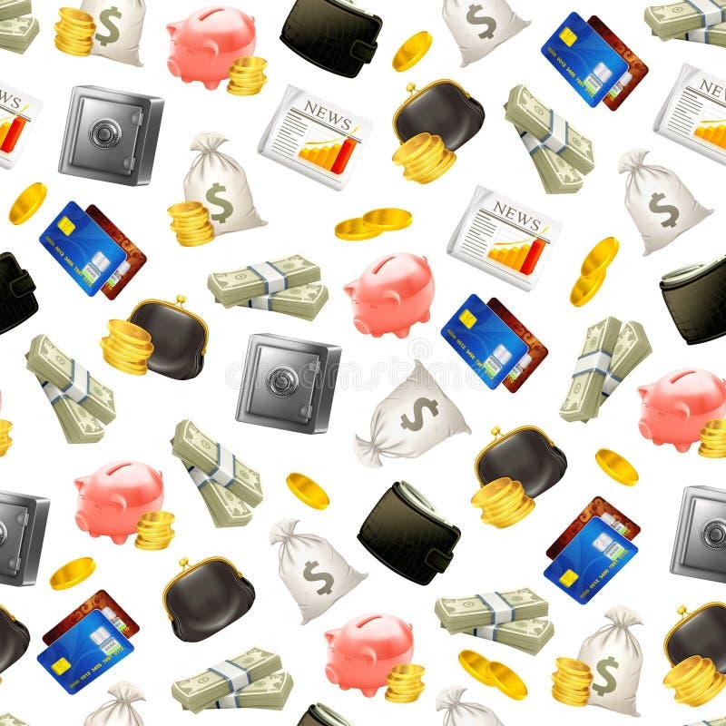Geld, naadloos patroon royalty-vrije illustratie