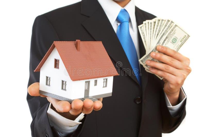 Geld oder Haus stockbilder