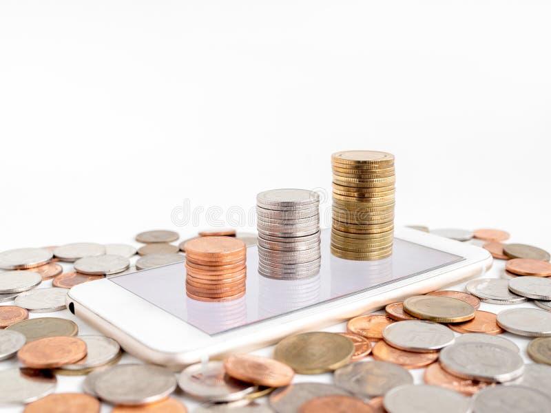 Geld Online verdienen stockfotografie