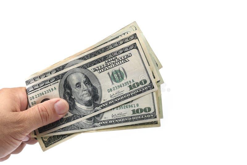 Geld op hand royalty-vrije stock foto