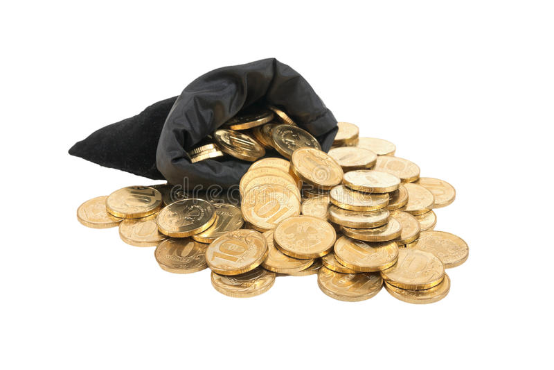 Geld over witte achtergrond royalty-vrije stock foto