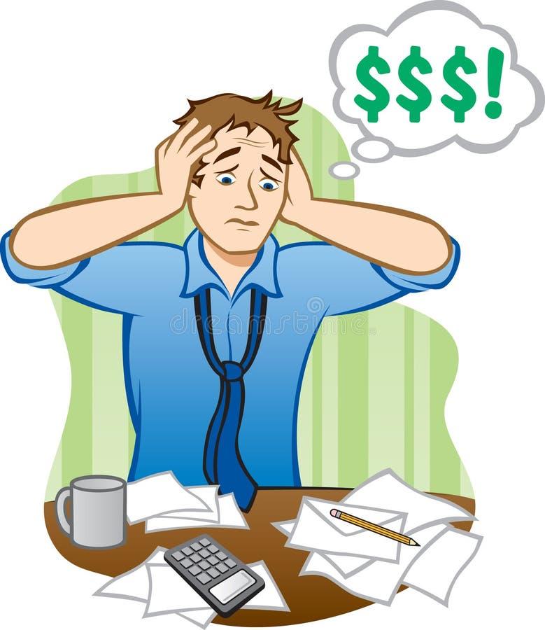 Geld-Probleme lizenzfreie abbildung